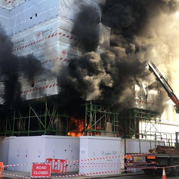 Hatalmas tűz a londoni építkezésen 2018.02.17.